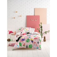 Flamingo Beach Duvet Cover Set