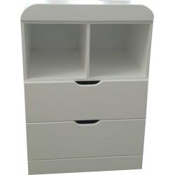 2 Drawer 2 Shelf Compactum
