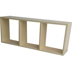 Limewash Wall Shelf: 3 Division