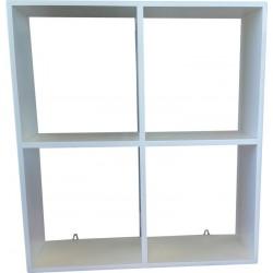 Wall Shelf: 4 Division Hanging Shelf