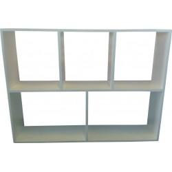 Wall Shelf: 5 Division Hanging Shelf