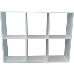 Wall Shelf: 6 Division Hanging Shelf