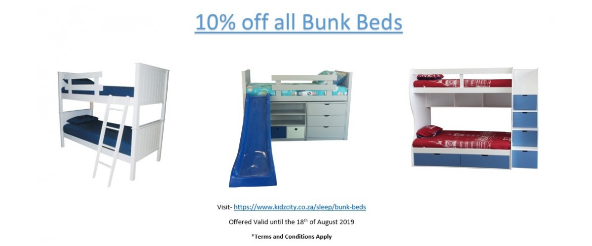 10% off all Bunk Beds