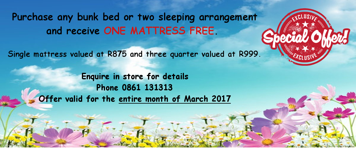 Free Mattress with Two Sleeping Arrangement