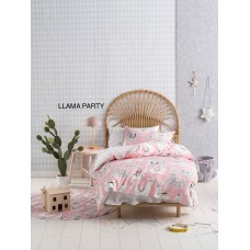 Llama Party Duvet Cover Set
