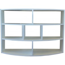Half Moon Hanging Wall Shelf