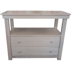 2 Drawer Compactum - Pine Limewash