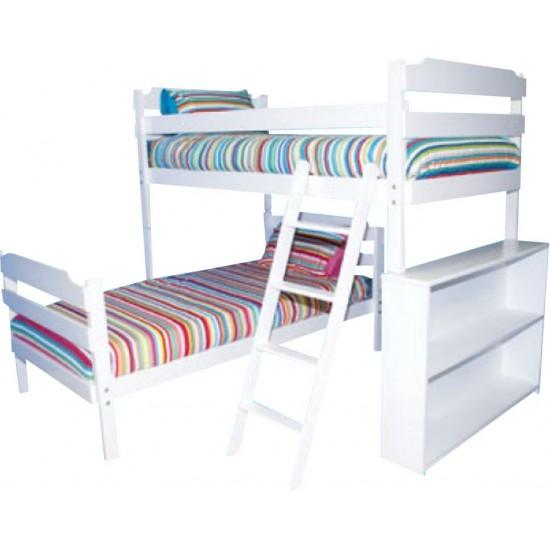 Luke Double Bunk L-Shape Bed