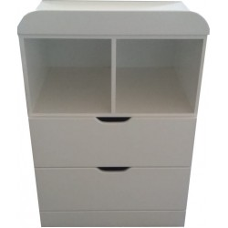 2 Drawer 2 shelf compactum